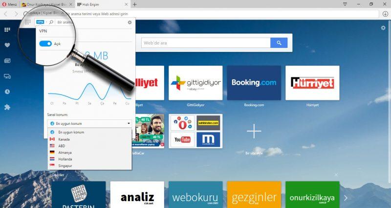 Opera VPN Kullanımı